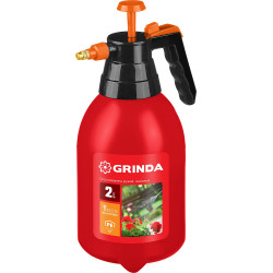 Опрыскиватель GRINDA PS-2 2 л, ручной, помповый, колба из полиэтилена / 425053